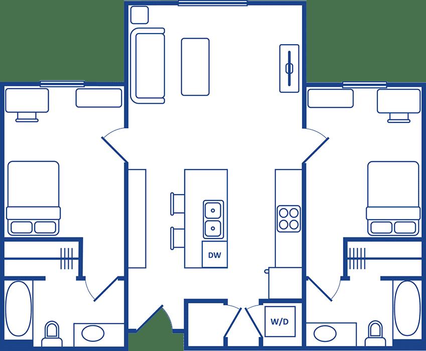 2 Bedroom Floorplan1