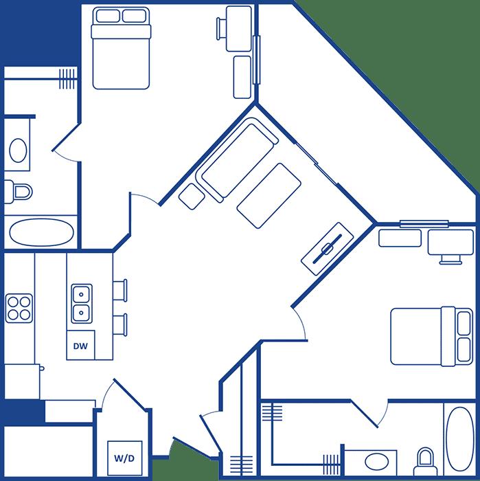 2 Bedroom Floorplan3