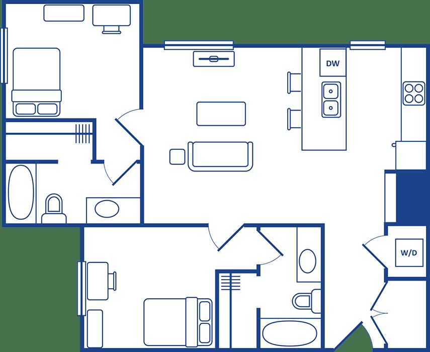 2 Bedroom Floorplan4