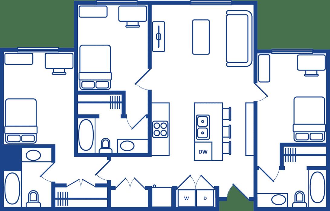 3 Bedroom Floorplan1