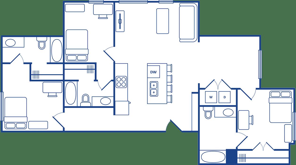 3 Bedroom Floorplan2