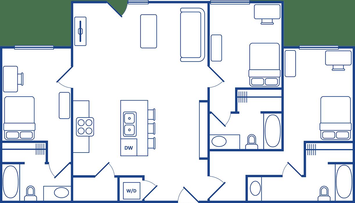 3 Bedroom Floorplan4