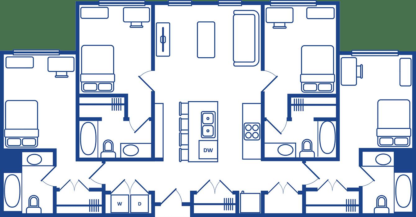4 Bedroom Floorplan1