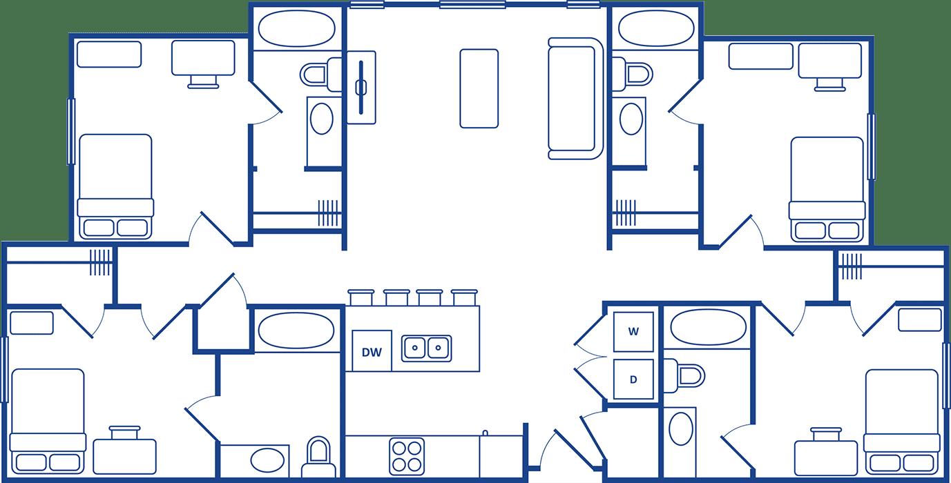 4 Bedroom Floorplan2