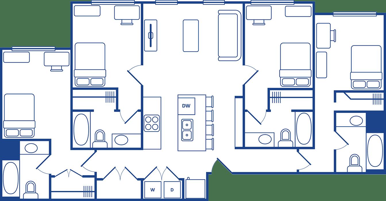 4 Bedroom Floorplan3